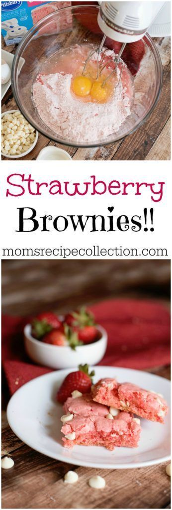 Strawberry brownies moms recipe collection food fun pinterest strawberry brownies moms recipe collection forumfinder Images