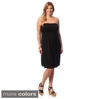 247 Comfort Apparel Women's Plus Size Sleeveless Tube Dress