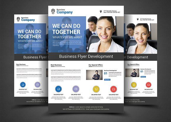 Best Business Flyers Templates by AfzaalGraphics on - business pamphlet templates
