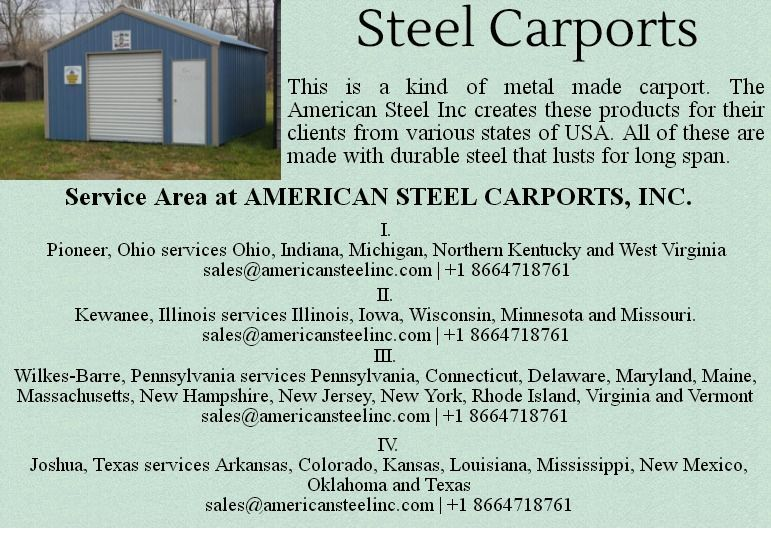 Steel Carport Is One Of The Products By Http Www Americansteelinc Com And Here Is A Brief Account Of Their Service Are Steel Carports Carport Metal Carports