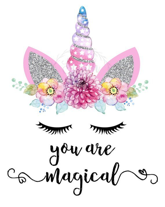 Printable Wall Art - You are Magical Print Home Decor Unicorn Instant Download Digital Download