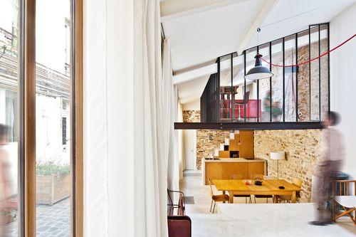 NZI Architectes / Gianluca Gaudenzi - Sandra de Giorgio, Sandra De Giorgio — Loft à Paris