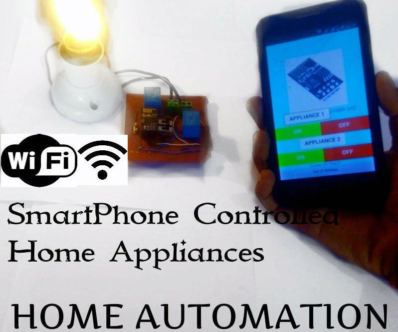 home automation with esp8266 wifi without using blynk arduino