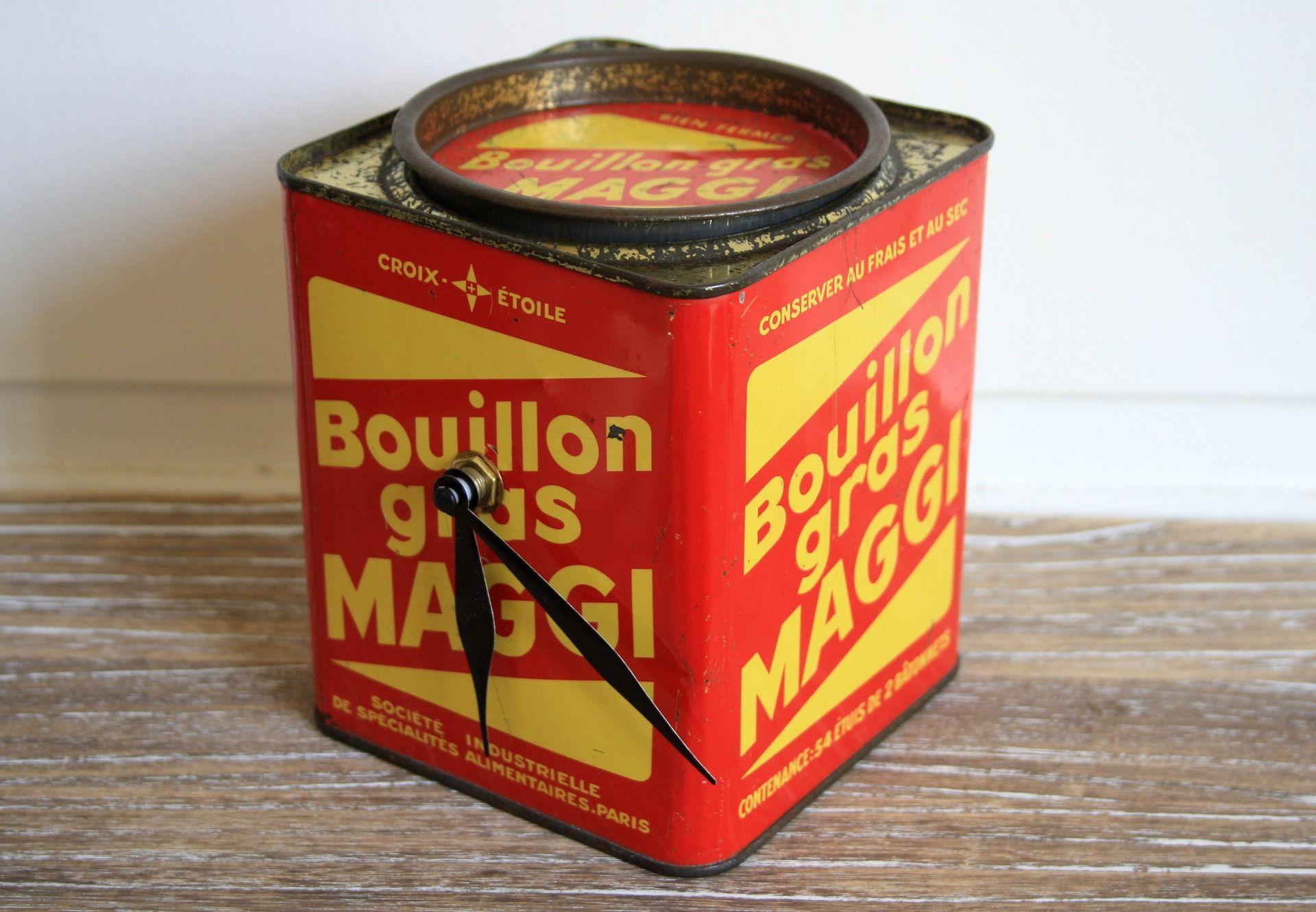 Horloge Vintage Bouillon Cube Maggi Accessoires De Maison Par