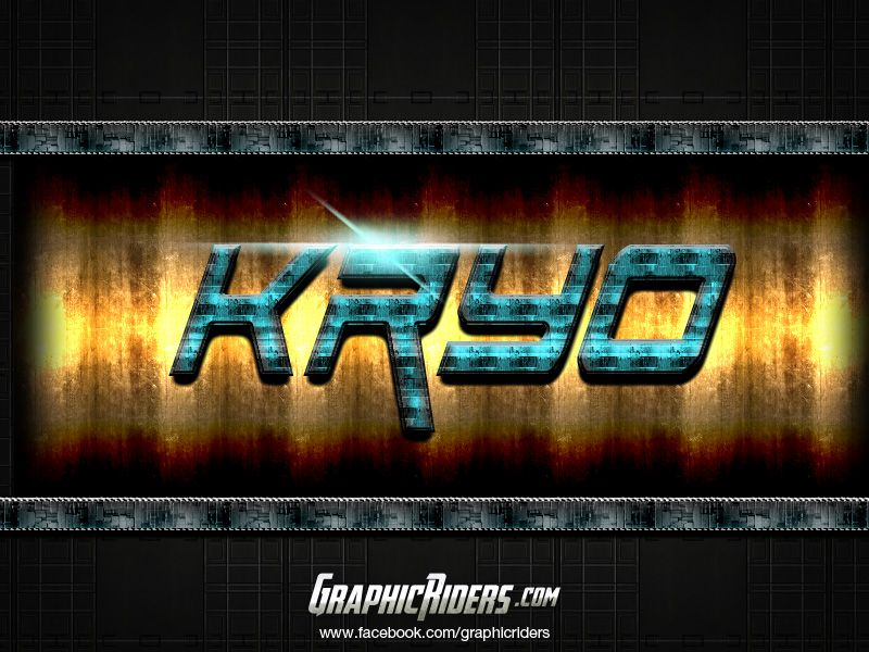 Sci-fi style – Kryo (free photoshop layer style, text effect, free psd file) #graphicriders