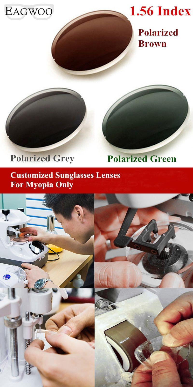 f1b4c5334c1 1.56 Index Prescription Sunglasses Polarized Lenses Grey Brown Green  Sunglasses Lens for Myopia Anti UVA