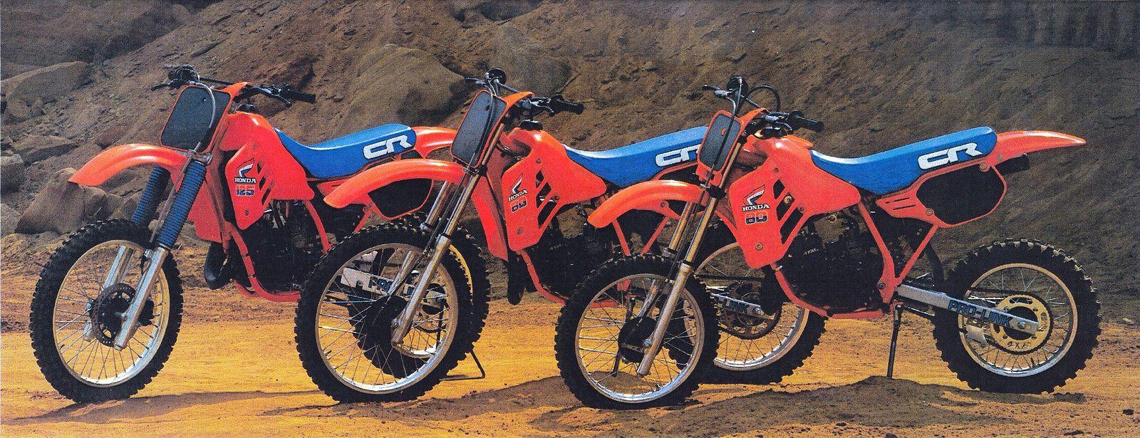 1985 Honda Cr125r Cr80r Ii And Cr80r Vintage Motocross Honda Honda Dirt Bike