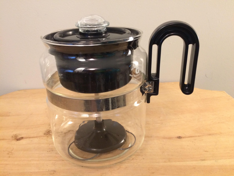 Retro Style Vintage Gemco Coffee Tea Percolator Heat