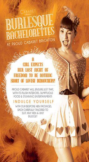 Proud Cabaret Hen Parties Burlesque And Cabaret In Brighton
