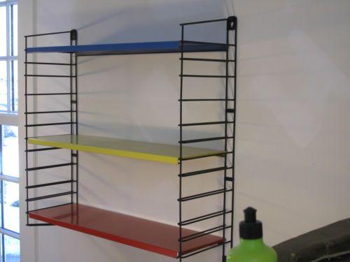 Tricolor Mondrian Inspired Mid Century Modern Tommado Shelf Unit | eBay