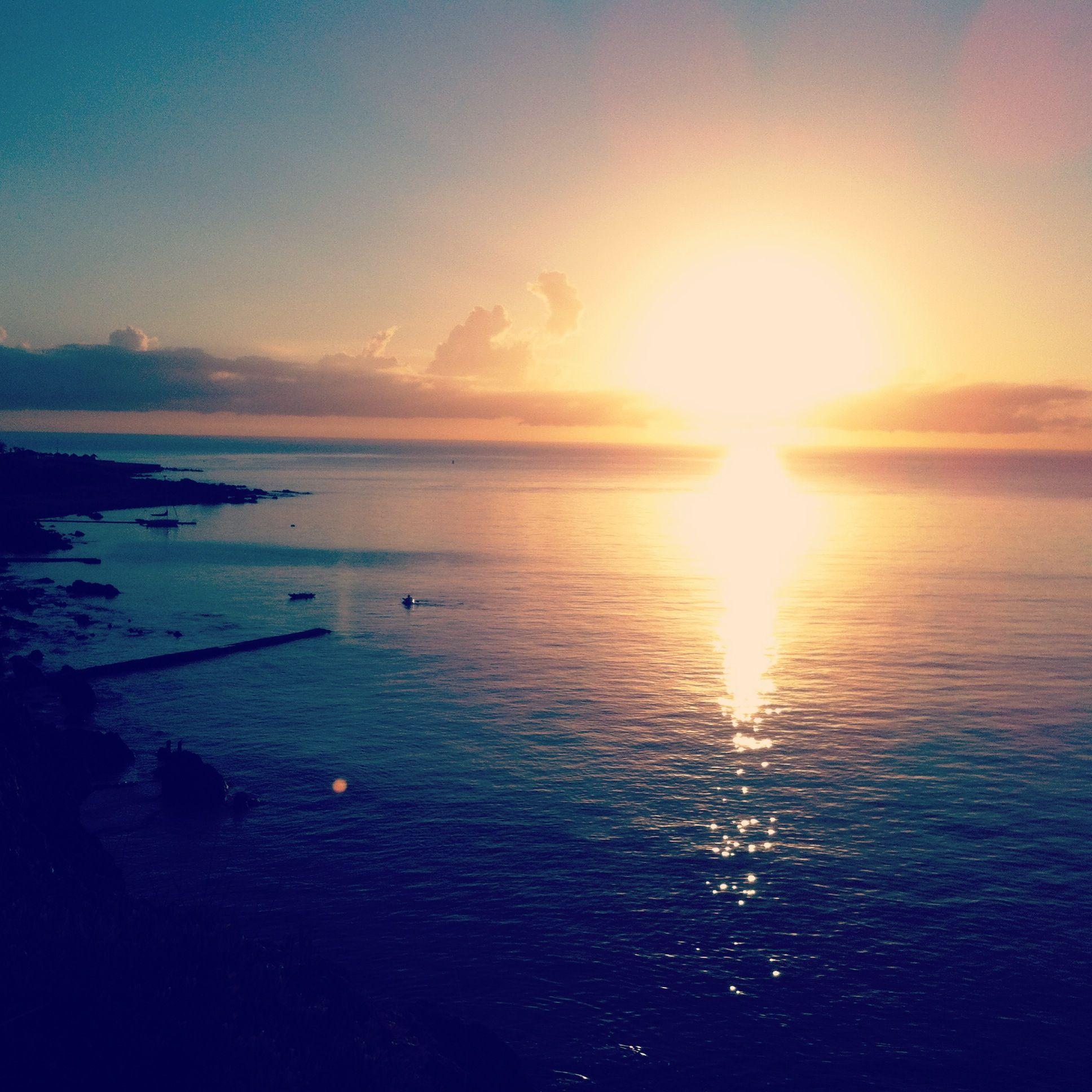 Sunset On The Horizon Punta Del Este Uruguay Wallpaper Hd