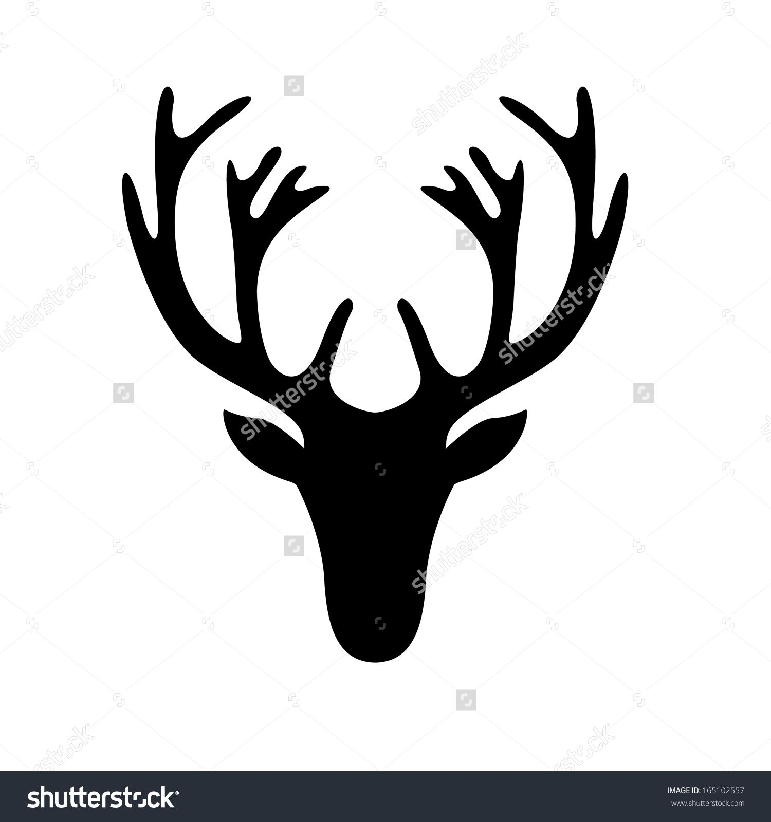deer head silhouette - Google Search | Sgrafitto ...