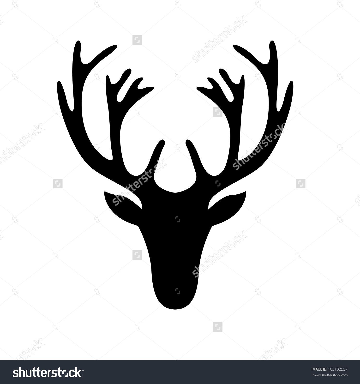 deer head outline clear background pdf
