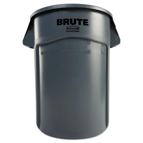 Brute Vented Trash Receptacle Round 44 Gal Gray Rubbermaid Commercial Products Rubbermaid Trash Can