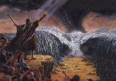 moses and the red sea | Moses parts the Red Sea