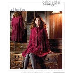 debbie bliss magazine coats | LINE COAT Debbie Bliss Knitting Magazine Fall/Winter 2009 #13