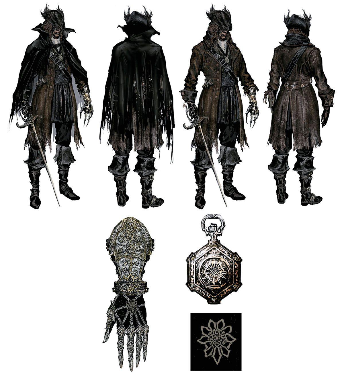Ashen Hunter Attire From Bloodborne In 2019 Bloodborne Art