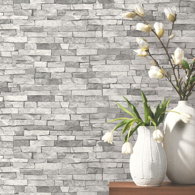 Go Wallpaper Slate Wallpaper Brick Effect Wallpaper Grey Brick Effect Wallpaper