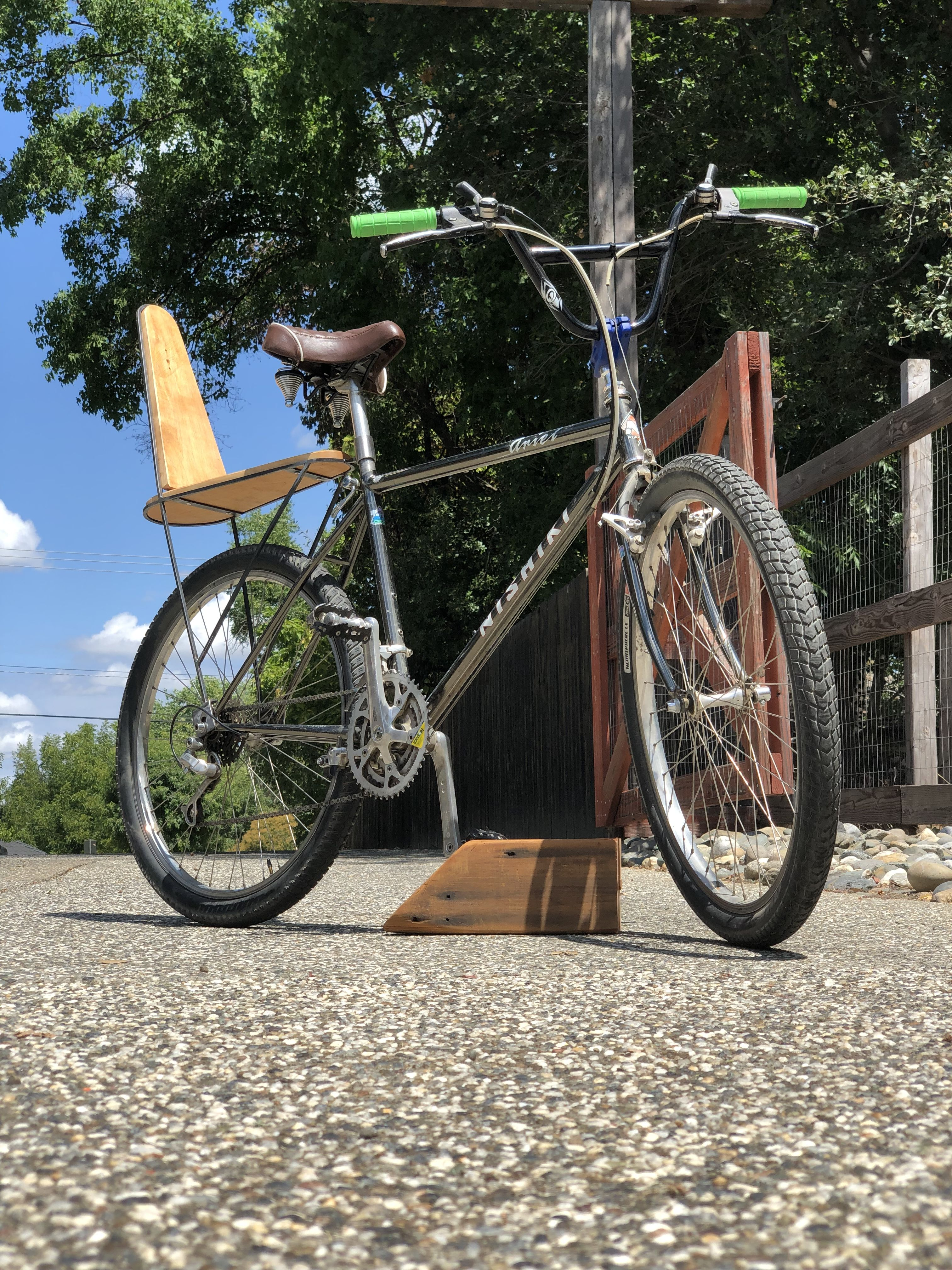 This Is An Old Mountain Bike With Bmx Handle Bars A Cruiser Seat