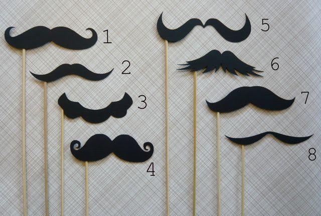 Mustache templates! | festas | Pinterest | Schrumpffolie