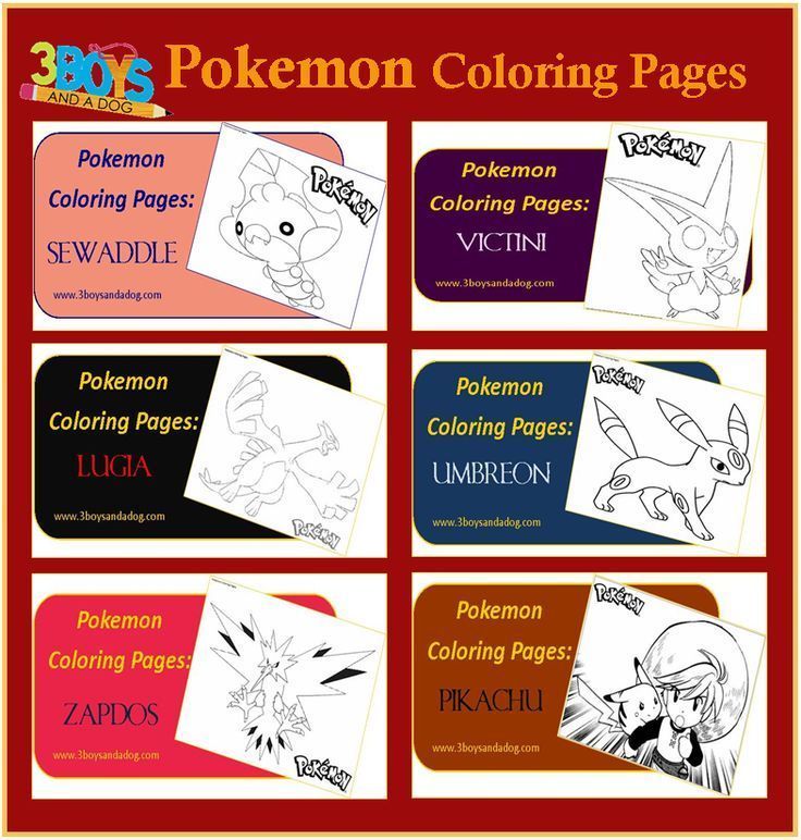Printables: 6 Pokemon Coloring Pages | Pinterest | Pokemon coloring