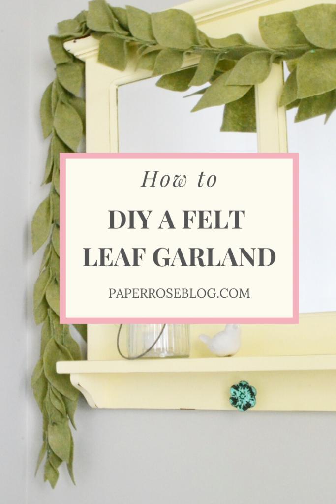 DIY Felt Leaf Garland | Darlene Brink