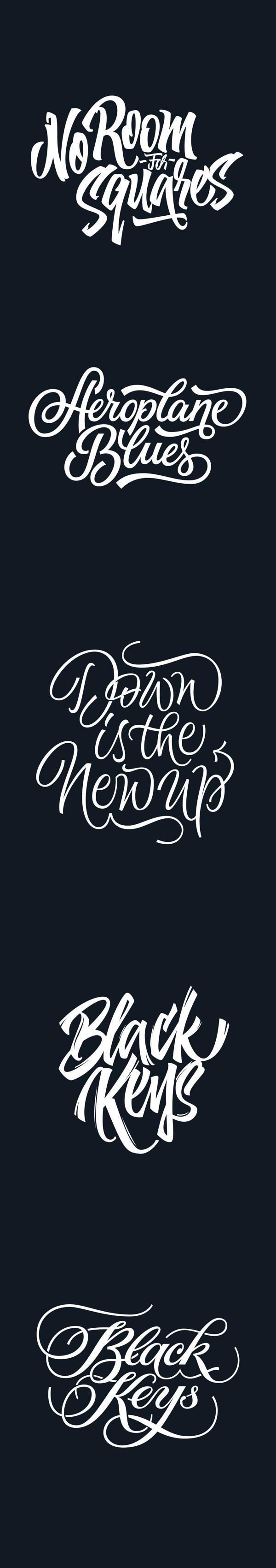 Recent custom lettering by Yury Veselov, via Behance