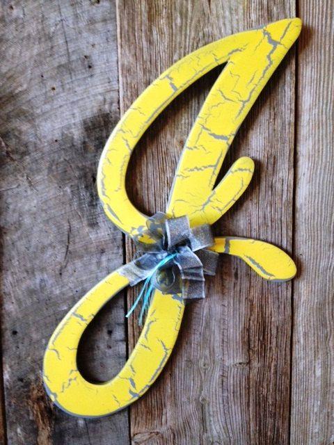 Wooden Door Hanger Letter J In Astoria Font