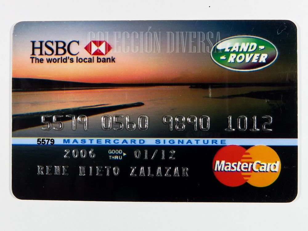 Hsbc Land Rover Credit Card Expired Mastercard Signature  Smart
