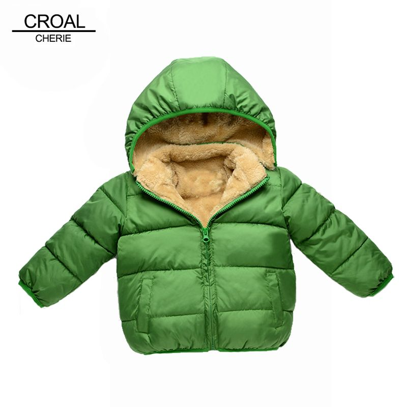 6e4a5e835 Cool 80-110cm Thick Velvet Kids Girls Boys Winter Coat Warm Children's  Winter Jackets Cotton