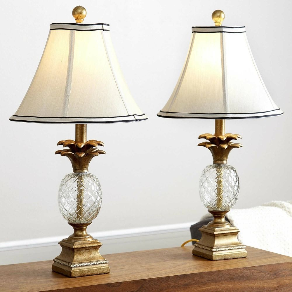 Table lamps set nightstand end table pineapple antique gold finish table lamps set nightstand end table pineapple antique gold finish caribbean new alc pineapplecoastal mozeypictures Choice Image