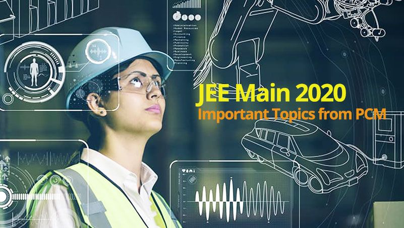 Jee Main 2020 Important Topics From Pcm Topics Maine Online Test Series