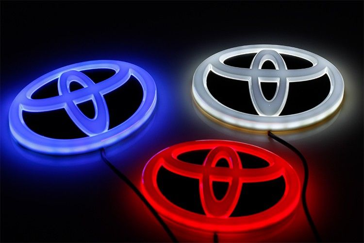 4d Lighted For Toyota Vw Audi Bmw Led Car Emblem With White Blue Red
