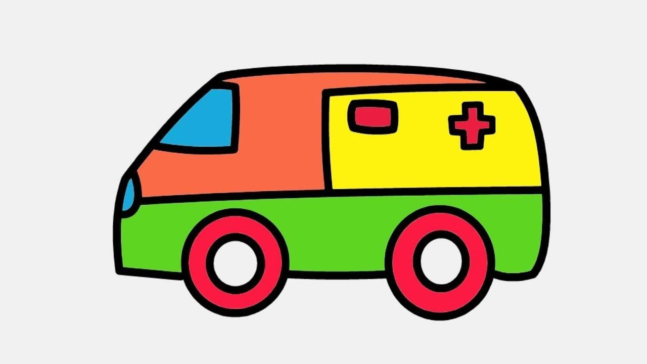 Drawing And Coloring Ambulance For Kids Coloring Age For Kids Learn Art Color For Children Coloring For Kids Learn Art Kids Learning