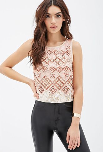 Sequined Geo Pattern Tank | FOREVER21 | #thelatest