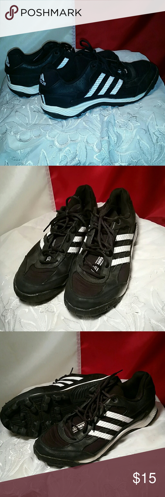 30ac21c74185 Adidas corner blitz cleats Adidas corner blitz cleats,black shoes,white  stripes,only used a few times Adidas Shoes Athletic Shoes