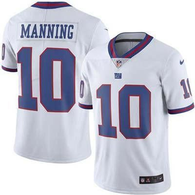 quality design 12292 32ce8 Eli Manning White Men's New York Giants Stitched NFL Limited ...