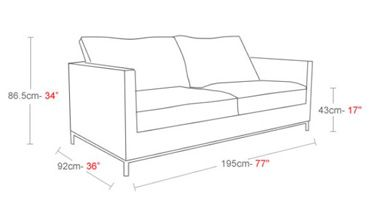 Sofa dimensions height design it rogers brothers fabrics for Sectional sofa height