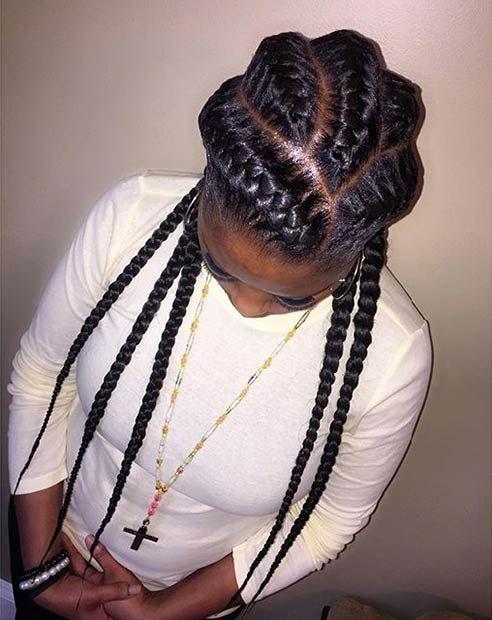51 Goddess Braids Hairstyles for Black Women | braids ...
