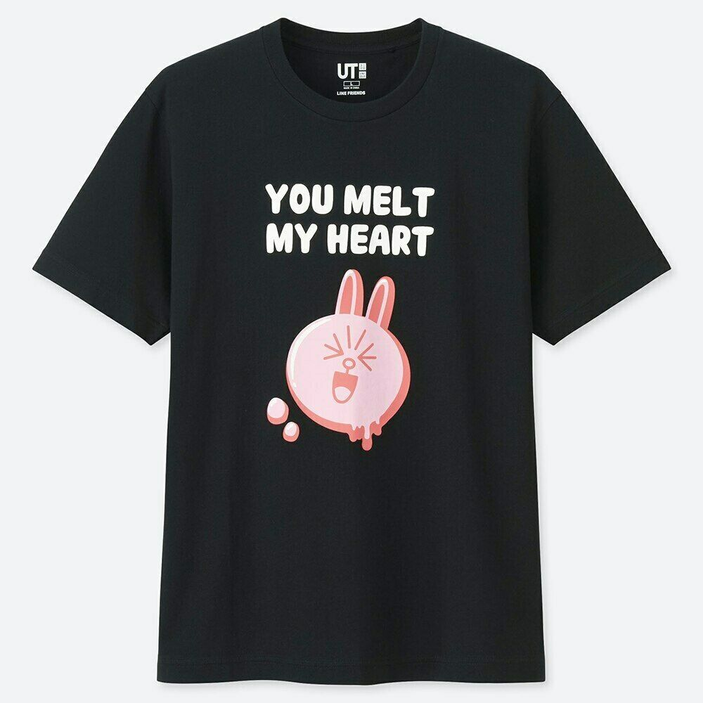 445217695 LINE FRIENDS Store Official Goods : UT Line Up Graphic Tee - You Melt My  Heart