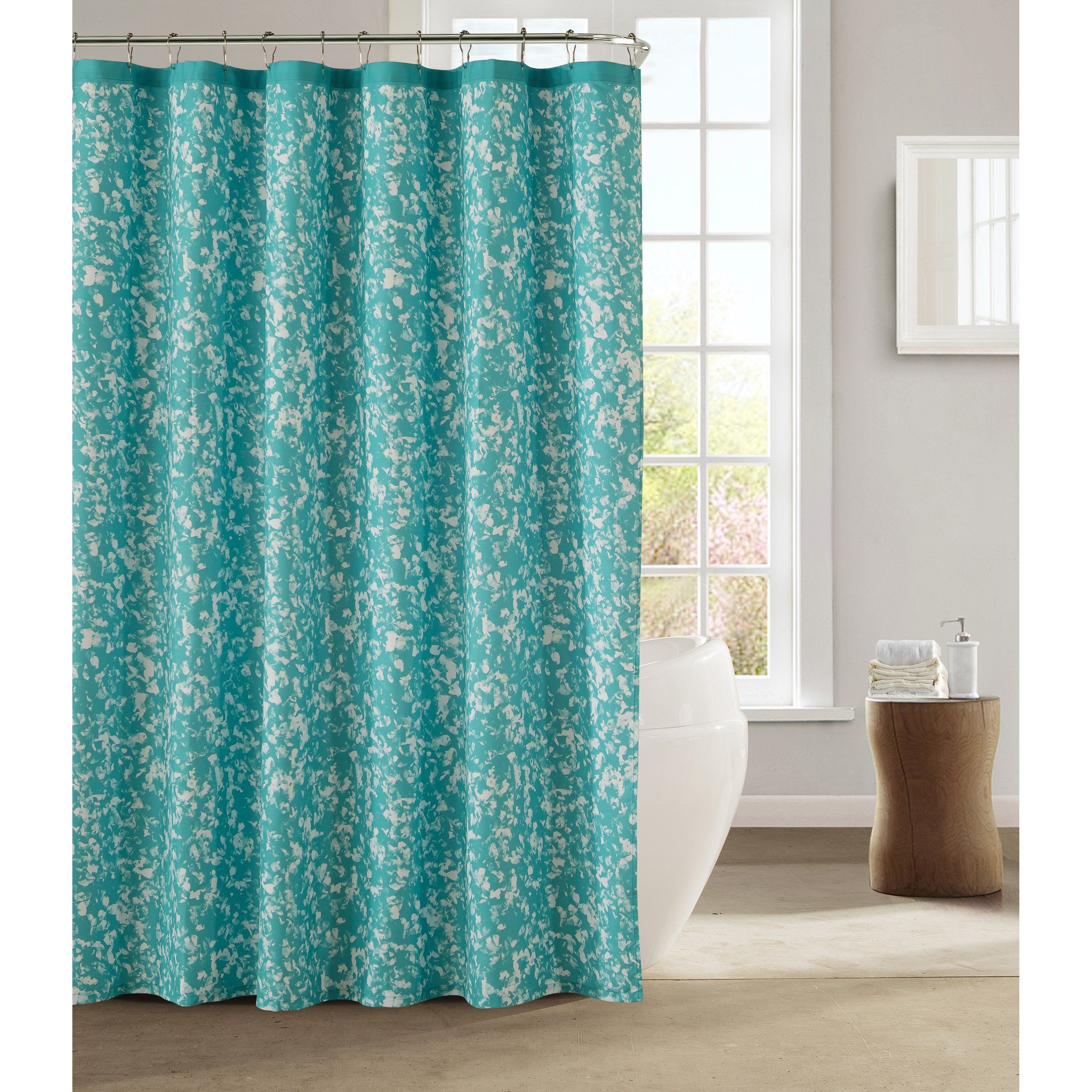 Kensie Susie Satin Microfiber Fabric Shower Curtain Fabric Shower Curtains Shower Curtain Sets Curtains