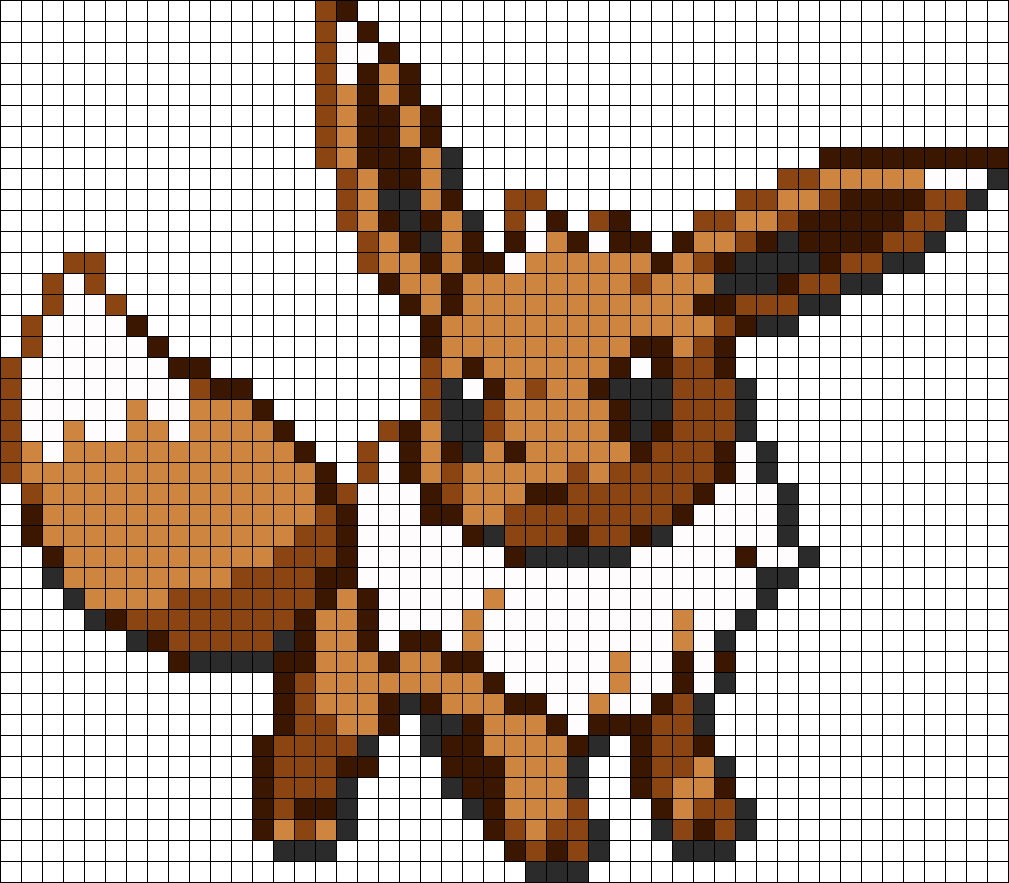 Eevee Perler Bead Pattern Bead Sprite Knitting Patterns