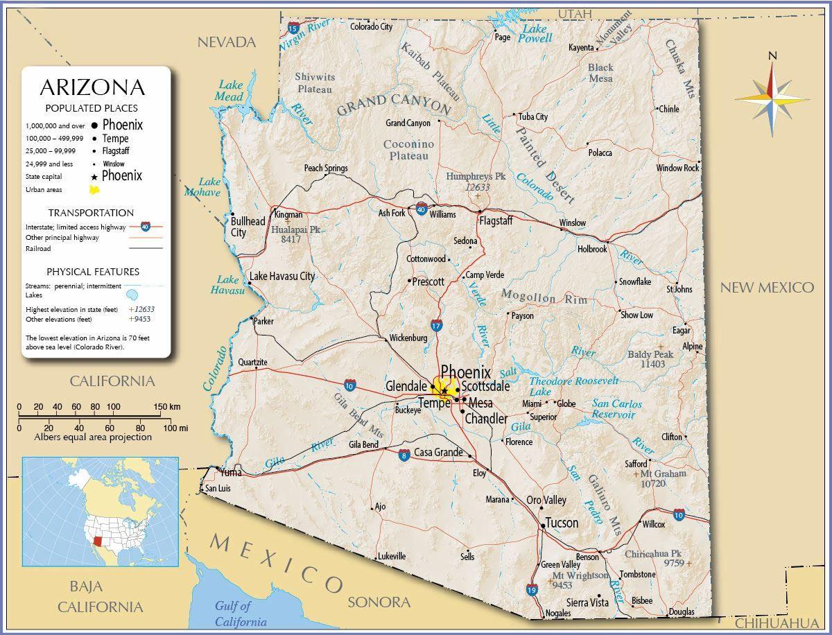 Phoenix Map Of Arizona Cities.Pin By Clarissa Sardinia On Road Tripin Destinations In