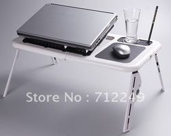 mobile site-2 fans all-ABS computer desk, bed Portable Laptop Desk Notebook Stand Bed TV Tray Cooler computer desk, Portable Computer Desk