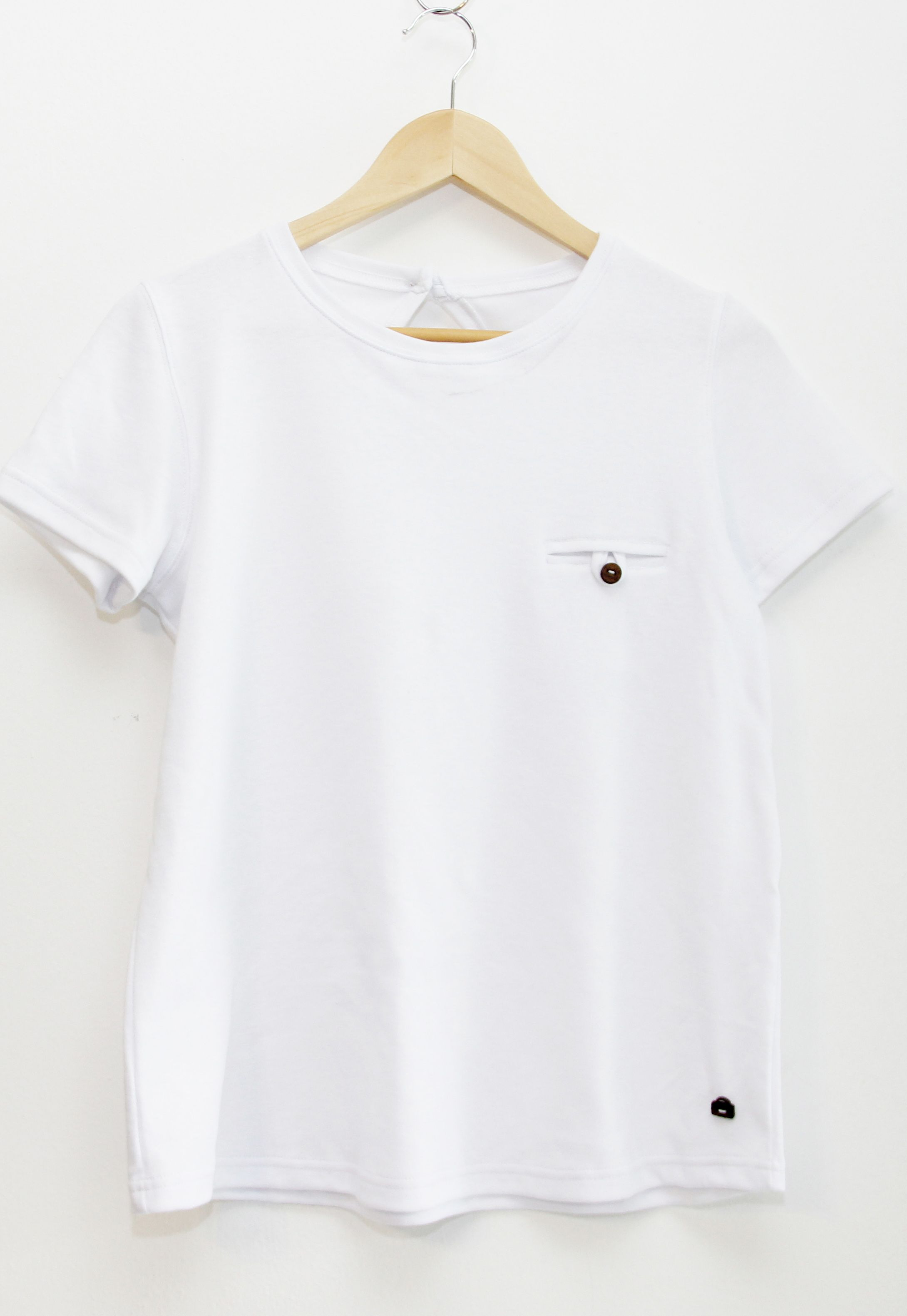 Remera blanca 100% algodón orgánico
