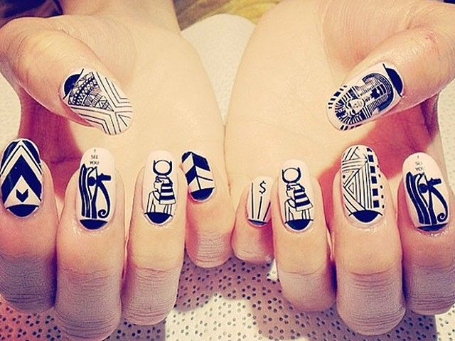 Egyptian-themed #nails by NCLA. | Egito | Pinterest | Belleza