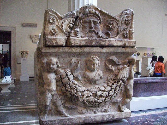 Roman Marble Sarcophagus with the Four Season Referenced in Relief (left side view) by peterjr1961, via Flickr