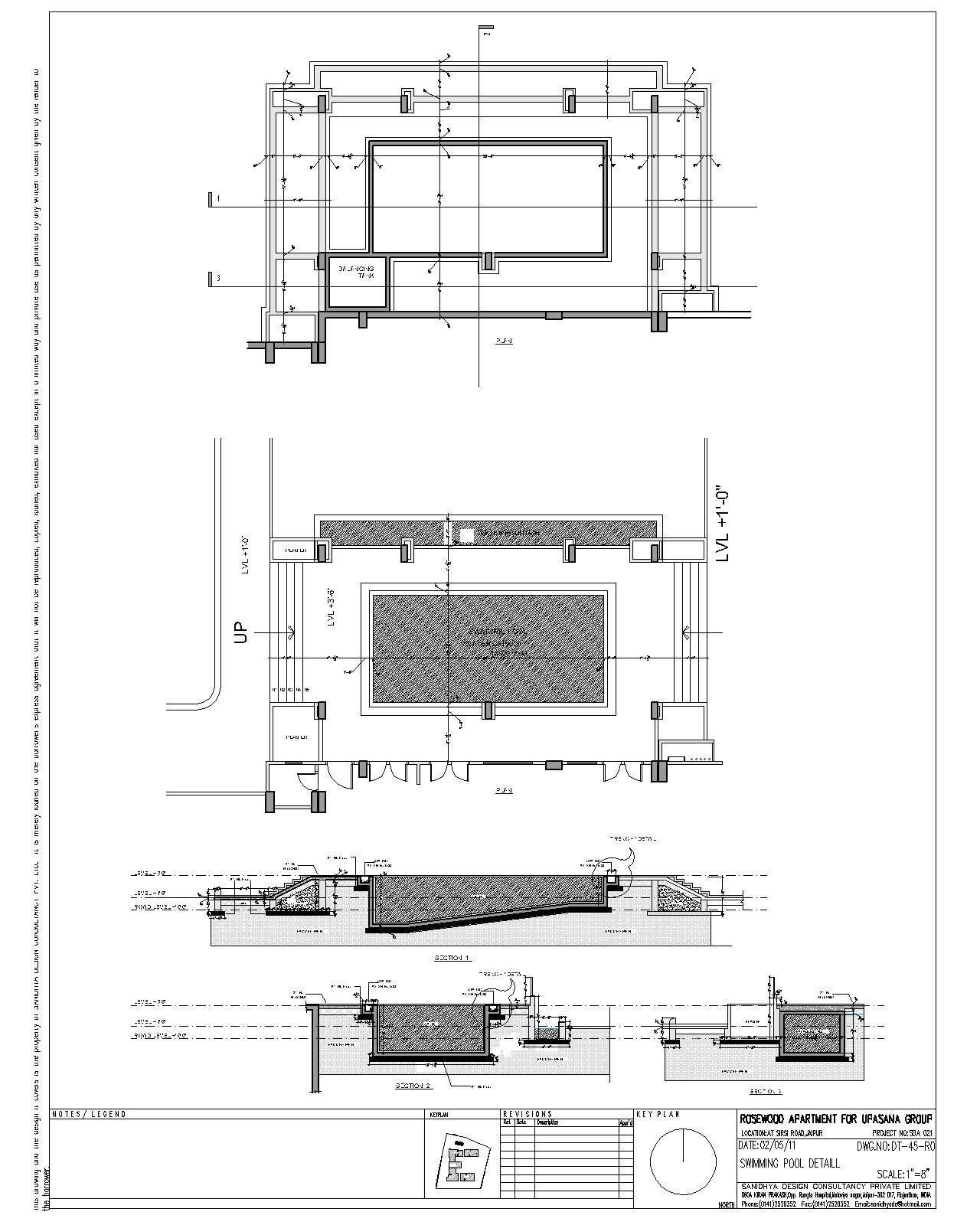 Swimming Pool Section Detail Drawinterior Com Swimming Pool
