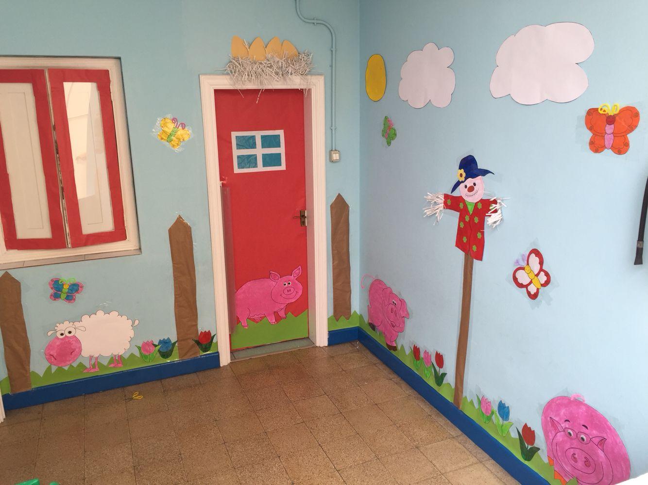 Decoraci n de la puerta proyecto de la granja ilan for Decoracion puerta aula infantil