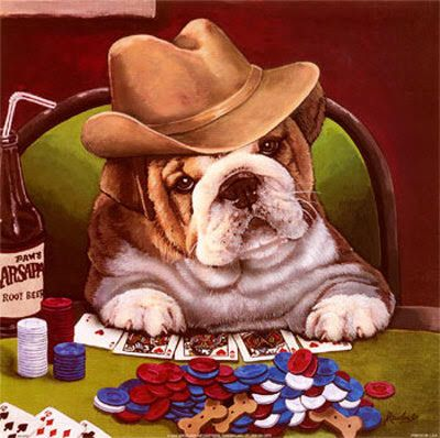 Gambling-Dog #dogs #pets #dog #Adopt #love #cute #animals #puppy | Gallery  wrap canvas, Dog poster, Bulldog art